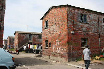 Old apartments in Langa, still occupied