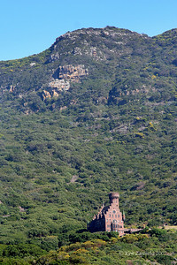 Rich man's castle in the hills just outside of Cape Town