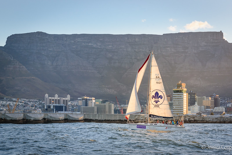 Scouts Sailing in the Shadow of Table Mountain