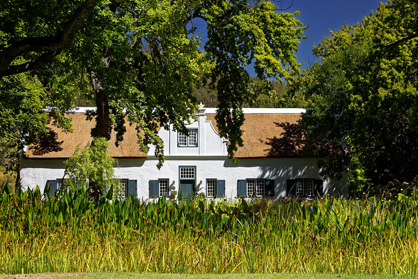 Cape Dutch architecture at Grand Provence Estate wine farm in Franschhoek