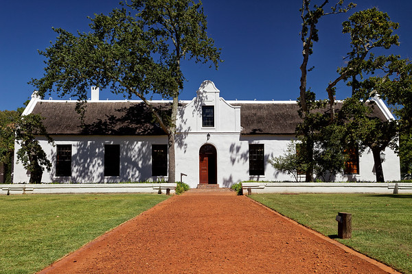 Cape Dutch architecture at Spier Wine Farm, Stellenbosch