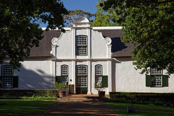 Cape Dutch architecture at Boschendal Wine Farm near Stellenbosch