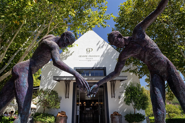 Sculpture at Grande Provence Estate wine farm in Franschhoek