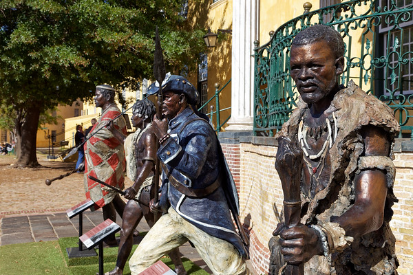 Warrior kings at the Castle of Good Hope, Khoi fighter, Doman, Sekhukhune, angalibalele, and Cetshwayo