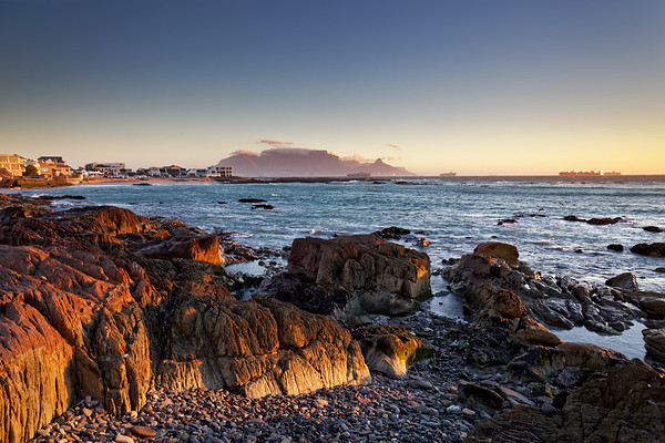 View to Table Mountain from Bloubergstrand