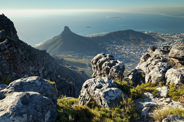 View to Lion's Head and Signal Hill from Table Mountain