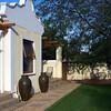 The garden outside my room at Honeylocust Lodge åin Colesberg, South Africa.