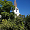 The tower of the Moederkerk, the Dutch Reformed mother church in Stellenbosch.