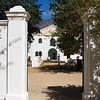The entry to the Cloete Cellard building of Groot Constantia winery.