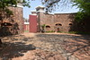Fort Schanskop, Pretoria, 23 September 2018 2.  Here are two views of the gate. The fort is pentagonal in shape.  This gatehouse, with two gates, is on the long (northern) side. This is the outer gate.