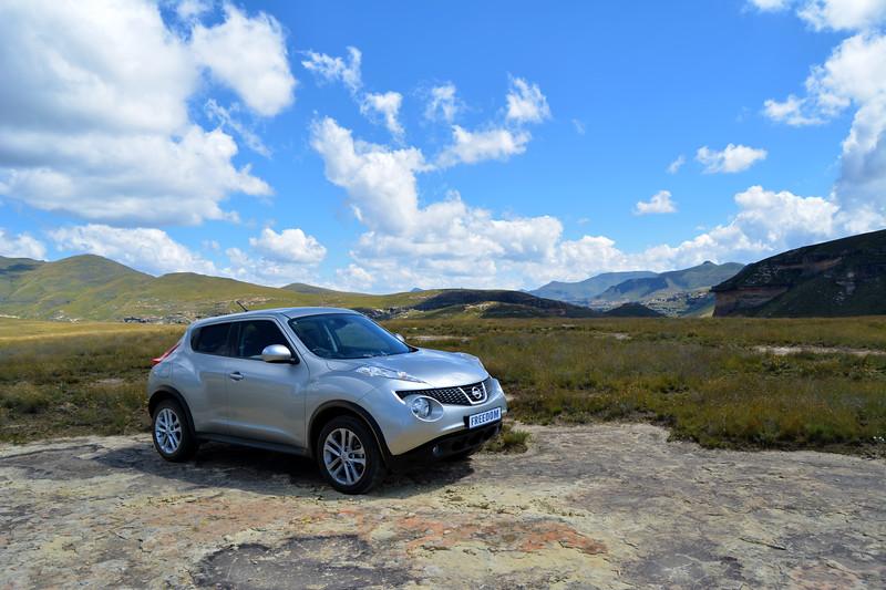 Nissan Juke in the Maluti mountains
