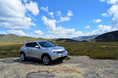 Nissan Juke in the Maluti mountains