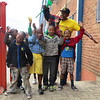 Coach Lebtop with kids at HCT, 11 May 2013, Alexandra, South Africa