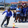 Dribbling line, Khayelitsha, South Africa, Feb 2013