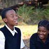 Two kids laughing/talking, South Africa, Feb 2013