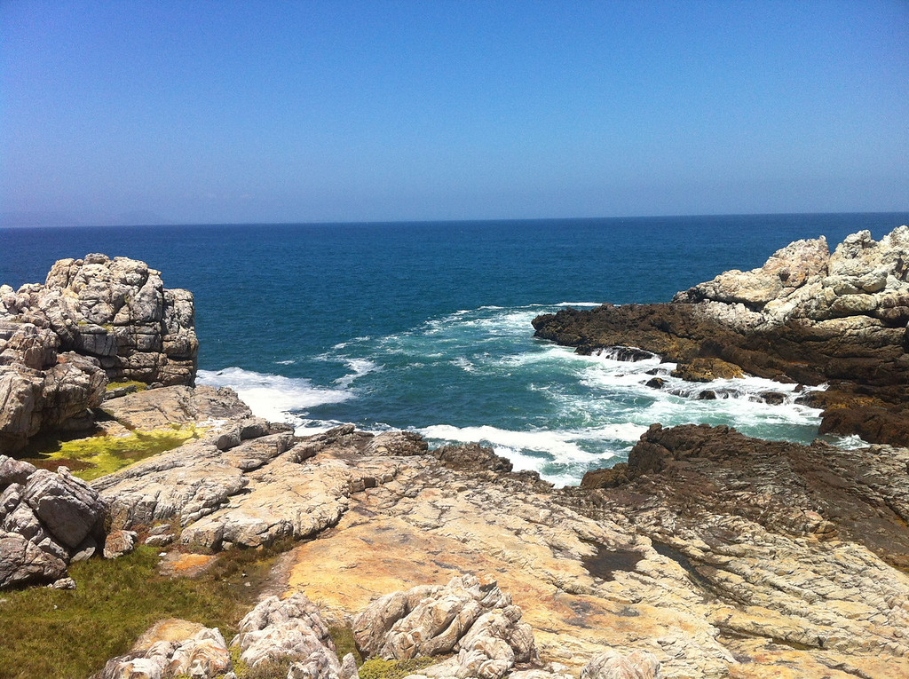 Walking along Hermanus's shoreline provides some beautifully vivid landscapes of colour