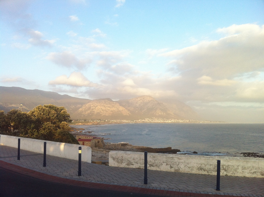 View from the Cliffs at Hermanus at around 7pm, straight from the roadside