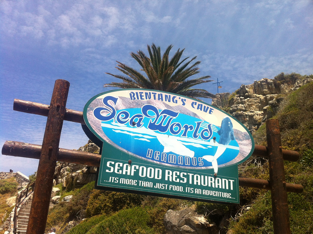 Built inside a large cave carved by nature out of Hermanus's cliffside, the Bientang Cave restaurant provides amazing opportunities for sea-level close encounters with the whales