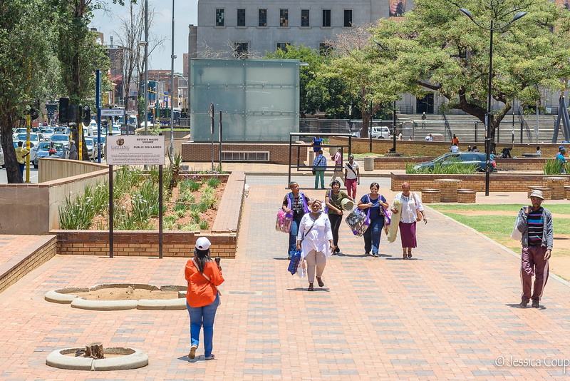 Walking Through the Square