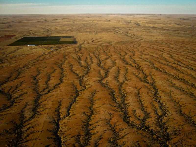 Ballooning over the Kalahari