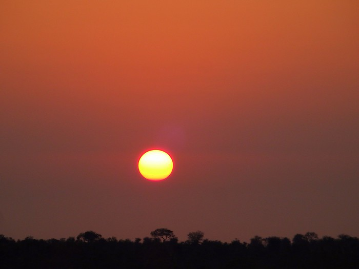 Amazing African sunrise.