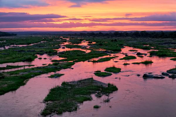 Oliphants river, dawn, Kruger National Park