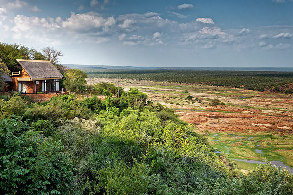 Oliphants rest camp with spectacular views over the Olifants River and bush, Kruger National Park