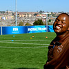 Coach Bulelani, Golden Goals programme, Alexandra, June 2014