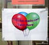 Sign saying Heluim (Sic) balloons sold here at Brightwater Commons, Randburg, Johannesburg, South Africa in February 2015