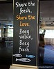 Sole restaurant sign at Brightwater Commons, Randburg, Johannesburg, South Africa in February 2015. Share the love. Beeg value, Beeg fish