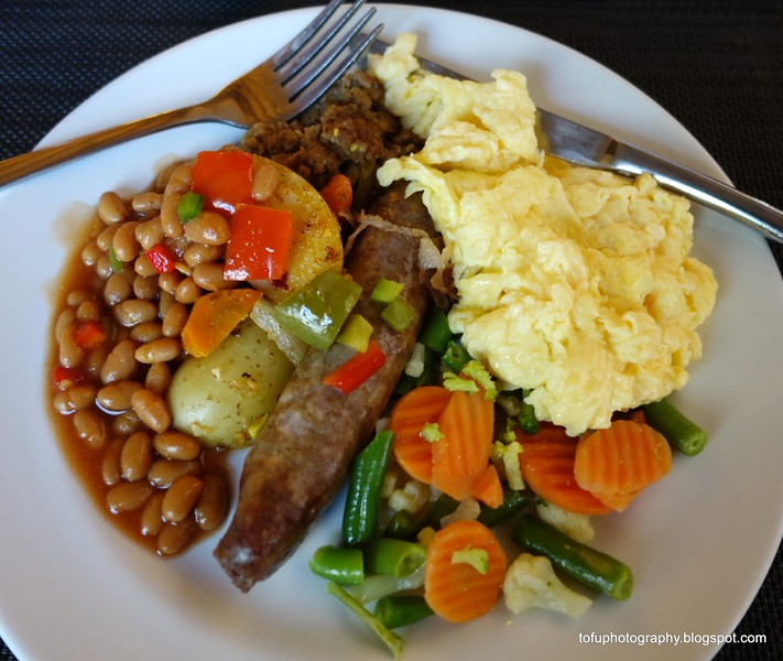 Hotel breakfast in Randburg, Johannesburg, South Africa in February 2015
