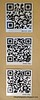 QR codes at Brightwater Commons, Randburg, Johannesburg, South Africa in February 2015, Scan me, and me, and me!