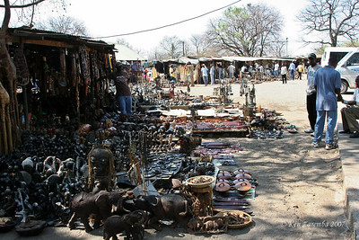 Large craft market very near the Royal Livingstone and Zambezi Sun Hotels. A very short walk to the edge of the falls.