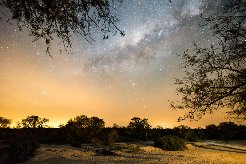Milky Way rising over Tanda Tula, Timbavati Game Reserve, South Africa