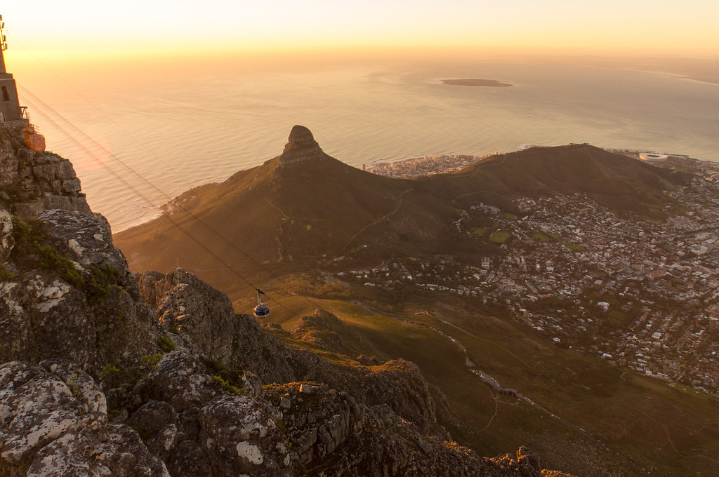 View From the Top of Table Mountain, South Africa