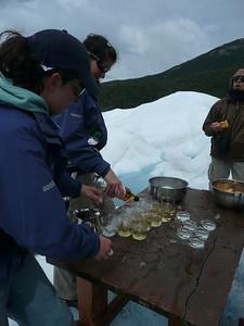 Whisky on (glacier) ice