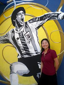 La Boca, near the futball stadium