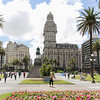 Historic Plaza Independenceia with a view of Art Deco styled Palacio Salvo