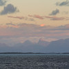 Stunning Canal Sarmiento sunset and mountains Chilean Coast