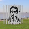 Nicholas Guagnini artwork 30,000 in Parque de Memoria, Buenos Aires