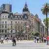 Busy Plaza de Mayo in front of Casa Rosada, Buenos Aires