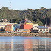 Puerto Montt city view from the harbor, Los Lagos Region, Chile