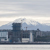 Volcano viewed from Puerto Montt harbor