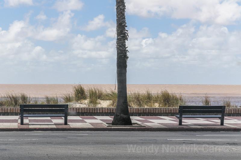 Visit the beach promenade in Montevideo, Uruguay