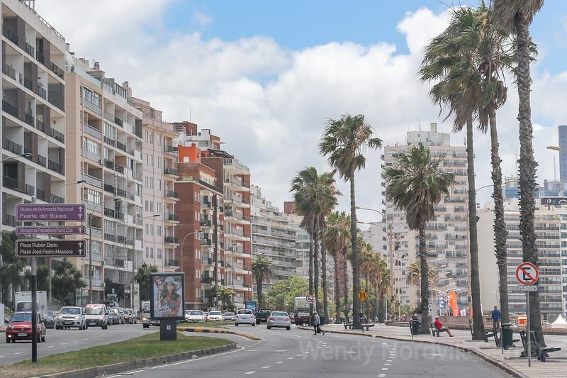 Beach promenade Montevideo, Uruguay