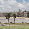 View along the beach promenade Montevideo, Uruguay