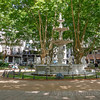 Historic fountain in Plaza Constitución, also known as Plaza Matriz, Montevideo, Uruguay