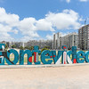 Montevideo sign Rambla República del Perú