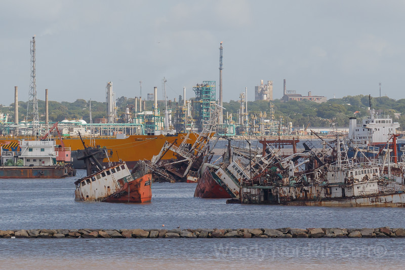 Port of Montevideo - abandonded ships