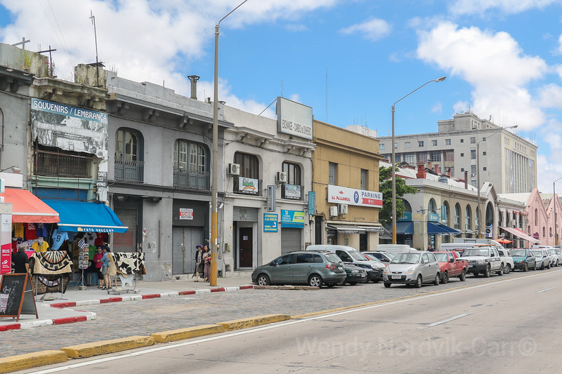 Streets outside Port of Montevideo, Uruguay